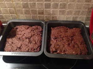 Peanut Butter Double Chocolate Brownies