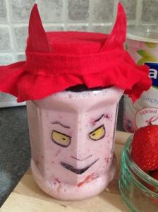 Halloween Devil Yogurt